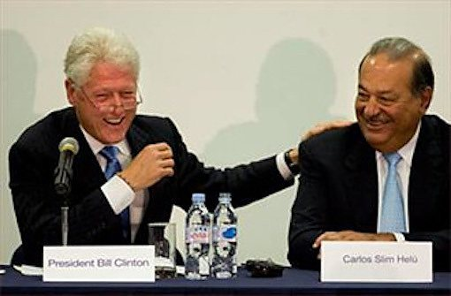 Clinton and Slim